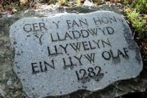 Memorial to Llywelyn in Cilmeri, Powys