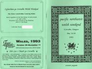 1993  Pacific NorthwestWelsh Weekend: Booklet