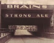 Brains Advert - Bute Street Bridge