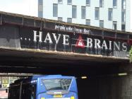 Brains Advert - Cardiff Central Station Bridge