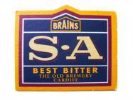 Brains Beer Mat - S.A Best Bitter