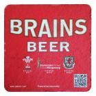 Brains Beer Mat - Glamorgan Cricket Official Beer