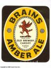 Brains Label - Brains, Amber Ale