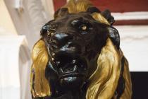 Cast-iron lion