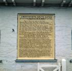 Aberystwyth Southgate Tollhouse information plaque