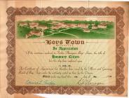 Boys Town, Nebraska Honorary Citizen Award...