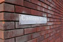 Llanfrechfa Grange: Canteen Shop Sign