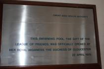 Llanfrechfa Grange: Swimming Pool Plaque 2