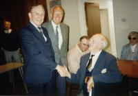 Lord Tonypandy visits the Club for the Blind at...