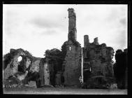 Coity Castle chimneys