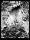 Ogmore Castle Norman fireplace