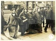 Welsh Suffragists leaving Cardiff for voluntary...