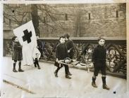 Boys with Red Cross Banner and Stretcher, c.1914