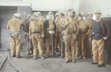 Group of miners at Oakdale Colliery 1981