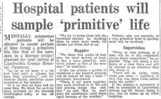 Patients experience 'primitive' life