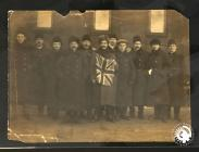 Volunteers for the British Army leaving...