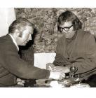 Doug and Terry Scott playing 'crib'