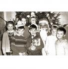 Father Christmas and group of children