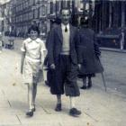 John Ernest Rees and niece, Covent Garden