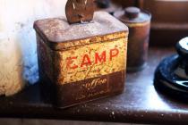 CAMP coffee tin