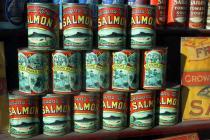 Gwalia Stores salmon tins