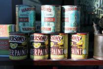 Gwalia Stores varnish and paint tins