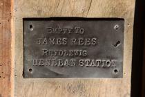 Address plate on box