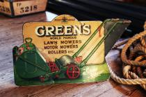 Greens Lawn Mower sign