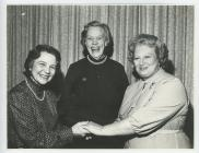 Hon Gwen with Mrs Ray Charles and June Churchman.