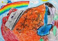 Jagged Rocks under Tryfan by Ysgol Bodedern