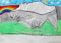 Rocks at Capel Curig by Ysgol Bodedern