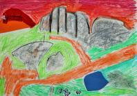 Rocks at Capel Curig by Ysgol Moelfre