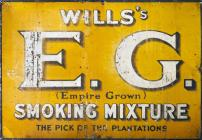 """Wills's E.G. (Empire Grown) Smoking..."