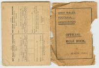 WWFA Official Rule Book 1930/31