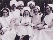 Group fo nurses at The North Wales Hospital,...