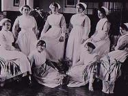 Group of nurses inside The North Wales Hospital...