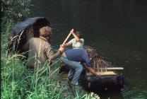 Coracles on River Bank 1984