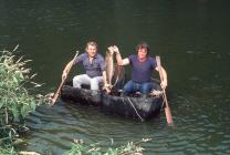 Coracle Fishermen with Salmon 1984