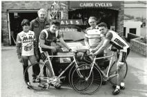 Cardi Cycles presenting bikes to the Welsh...