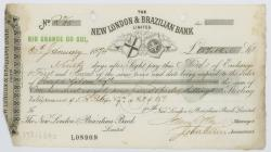 Cheque issued to Joseph Gibson from New London ...