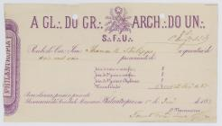 Receipt of the payment until May 1883 to the...