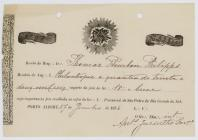 Receipt of the payment for the jewelry to the...