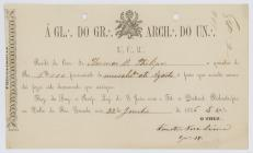 Receipt of the payment of until August 1876  to...