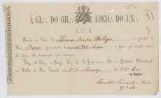 Receipt of the payment until May 1876  to the...