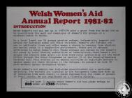 Welsh Women's Aid Annual Report 1981/1982, ...