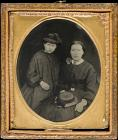 Portrait of woman and girl