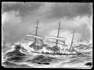 Painting of the three masted barque ROLF