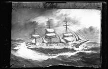 Painting of the three masted ship STRONSA
