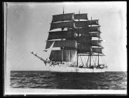 Four-masted barque ARCHIBALD RUSSELL c.1936