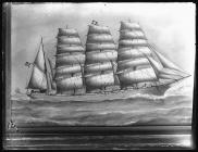 Four-masted barque ALCIDES.